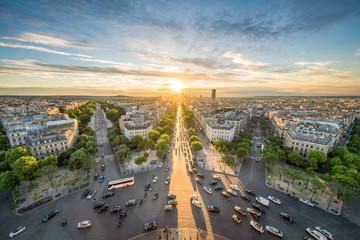 Place Charles-de-Gaulle und Skyline von Paris, Frankreich