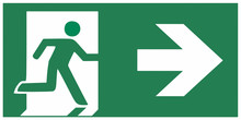 Emergency Exit Sign Right - Em...