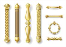 Set Of Classic Gold Door Handl...