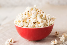 Popcorn In Red Bowl An Easy Sn...