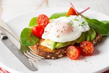 Healthy Breakfast With Avocado...