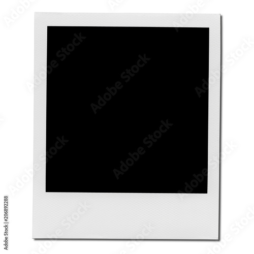 Retro realistic blank instant photo with shadow Wall mural