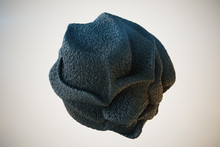 Abstract Black Textured Sponge...