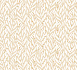 Geometric leaves vector seamless pattern. Abstract vector texture. Leaf background. - 206898230