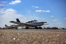 Light Aircraft At The Airport