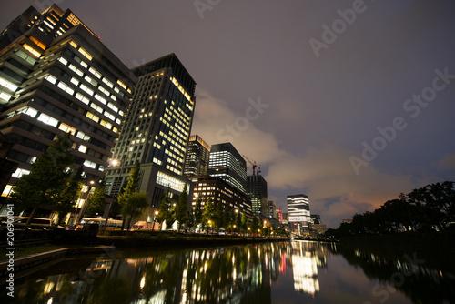 Tokyo at night, Japan Billede på lærred