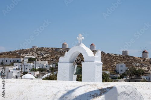 Panoramic view from the castle of Amorgos Wallpaper Mural