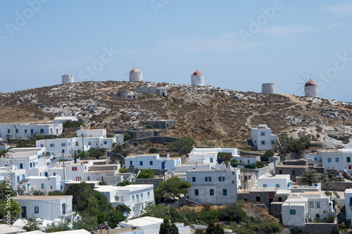 Panoramic view from the castle of Amorgos Canvas Print