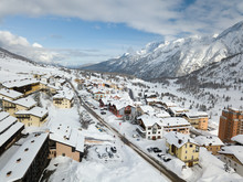 Ski Resort Of Passo Del Tonale...