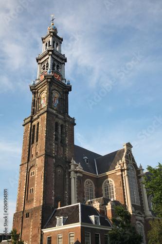 Plakat Kościół Westerkerk w Amsterdamie. Holandia