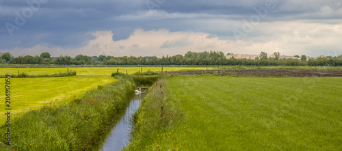 Foto Panorama of dutch agricultural landscape