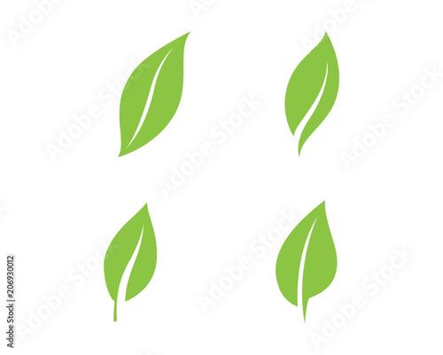 Fototapeta green leaf ecology nature element vector icon obraz na płótnie