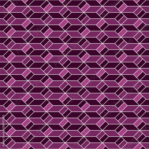 Keuken foto achterwand ZigZag Geometric background. Seamless pattern.Vector. 幾何学パターン