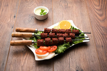 Indian Mutton Seekh Kabab Serv...