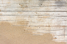 Sand On Planked Wood. Summer B...