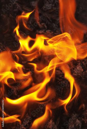 In de dag Vuur / Vlam fire flame background, wood burning