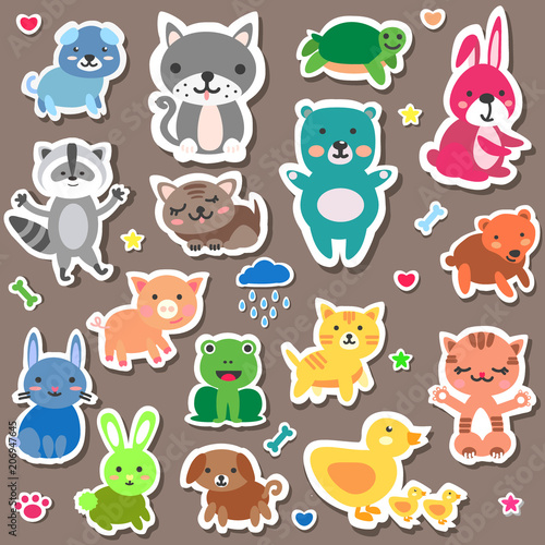 sticker animal baby