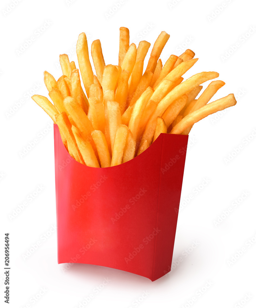 Fototapety, obrazy: french fries in a paper cup