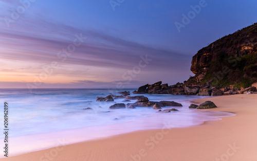 Tuinposter Canarische Eilanden Dawn Seascape, Beach and Headland