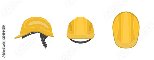 Valokuva  Vector illustration. Construction helmet on a white background.