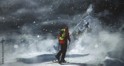 Stormy Ski Touring