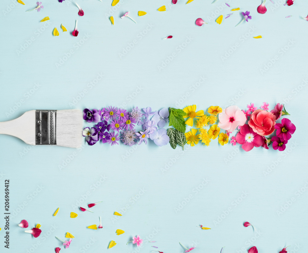 Fototapeta Painting colorful flower
