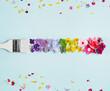 Leinwandbild Motiv Painting colorful flower