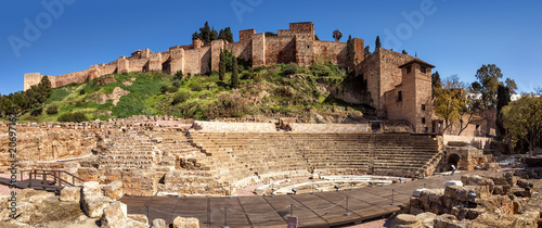 Photo  Málaga, Alcazaba, Teatro Romano, Spain