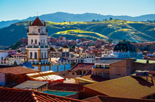 City Of Sucre At Sunny Day. Bo...
