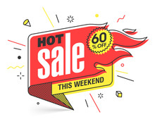 Hot Sale Banner Template In Fl...