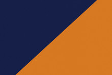 Two Color Paper With Dark Blue And Orange Of The Image. Background