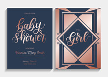 Baby Shower Cards Set With Let...