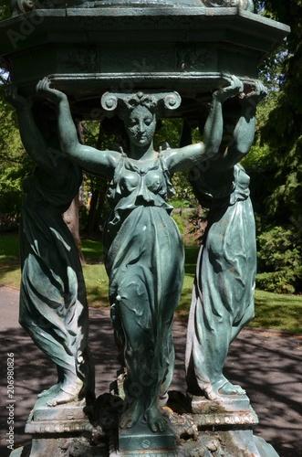 Foto op Canvas Fontaine Célèbre fontaine Wallace offerte à la population française en 1872