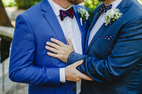 Couple of gay men getting married Wallpaper Mural