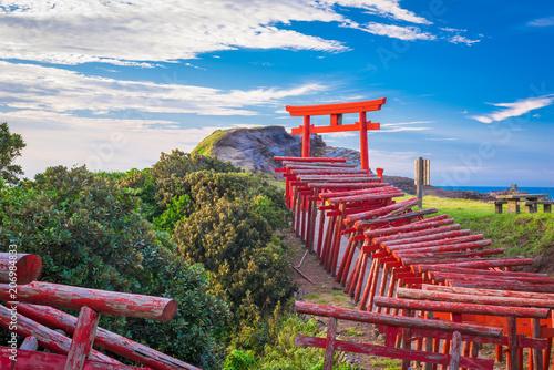 Fotografia  Motonosumi Inari Shrine in Yamaguchi Prefecture, Japan.
