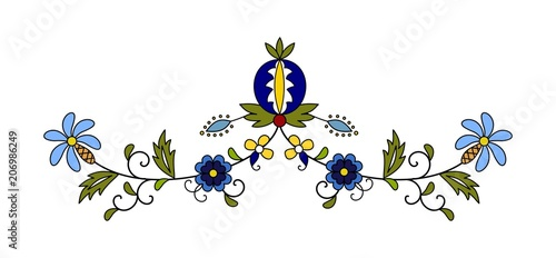 Fotografija  Traditional, modern Polish - Kashubian floral folk decoration vector, wzory kasz
