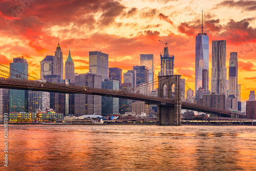Photo  New York City Sunset Skyline