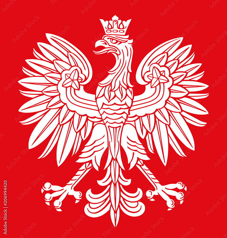 Fototapeta Poland eagle in national colors