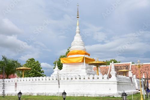 Fotobehang Bedehuis phra that kao noi temple. Nan ,Thailand