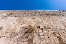 Detail Of The Western Wall In Jerusalem, Israel