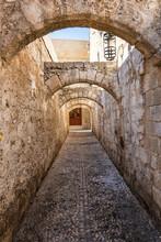 Narrow Medieval Street Of Old ...