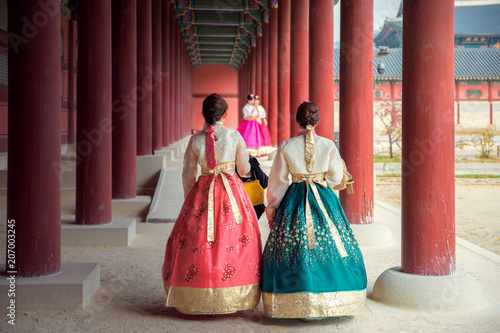 Photo sur Aluminium Seoul Korean lady in Hanbok