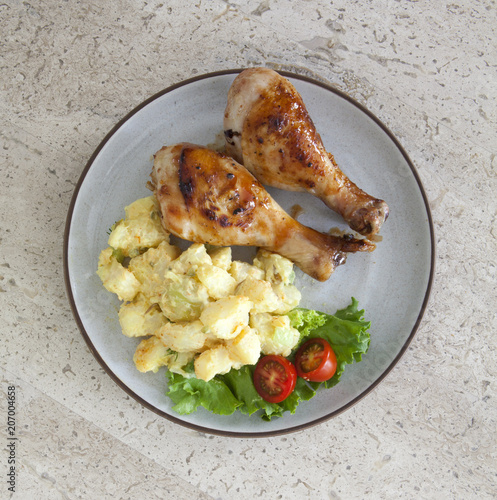Foto op Plexiglas Buffet, Bar Barbeque Chicken and Potato Salad