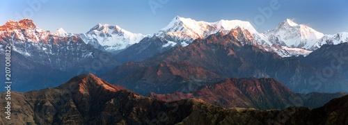 Foto auf Gartenposter Gebirge mounts Everest Lhotse and Makalu, great himalayan range