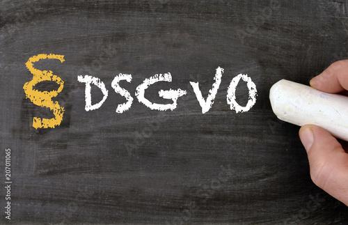 Fotografia  DSGVO Datensicherheits Grundverordnung Tafel