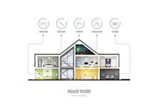 House In A Cut, Infographics W...