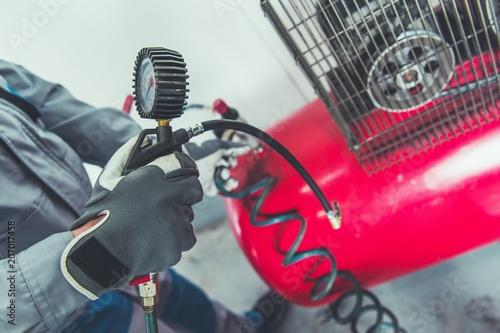 Fényképezés  Garage Air Compressor