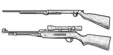 Air Rifle Illustration, Drawin...