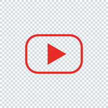 Red Button For Video Player. L...