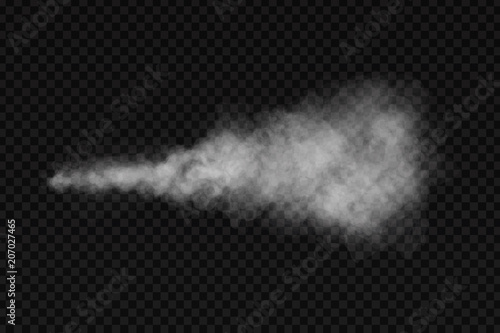 Photo sur Aluminium Fumee Vector realistic isolated smoke effect for decoration and covering on the transparent background.